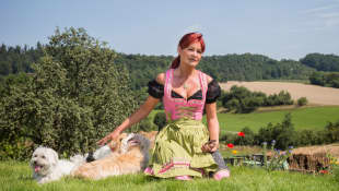 Andrea Berg im Dirndl 2014