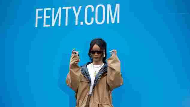 Rihanna beim Launch ihrer Modelinie für Fenty in Paris 2019