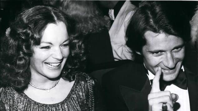 Romy Schneider und Daniel Biasini