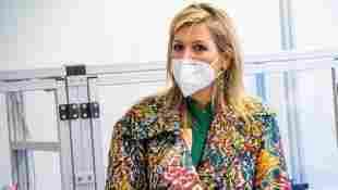 Königin Maxima Niederlande bunt Mundschutz