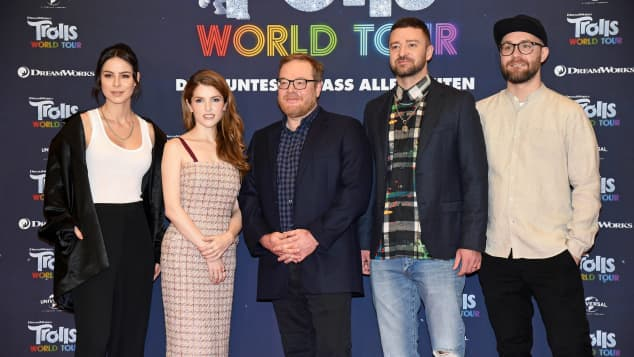 Lena Meyer-Landrut, Anna Kendrick, Walt Dohrn, Justin Timberlake und Mark Forster Trolls World Tour