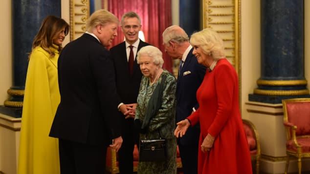 Donald Trump Melania Trump Queen Königin Elisabeth Prinz Charles Herzogin Camilla