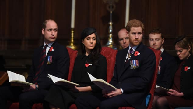 Prinz William, Prinz Harry und Meghan Markle gedenken dem ANZAC Day