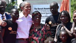 Auma und Barack Obama