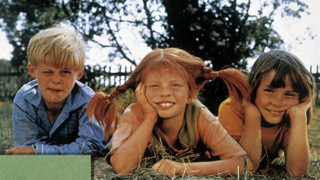 """""""Pippi Langstrumpf"""" mit """"Tommy"""" und """"Annika"""""""