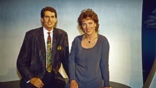 Die ARD-Morgenmagazin Moderatoren Jürgen Drensek und Julitta Münch