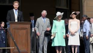 Prinz Harry, Prinz Charles, Camilla und Meghan Markle