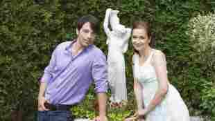 """Uta Kargel und Lorenzo Patané bei einem Fototermin für """"Sturm der Liebe"""" am 15. Juli 2010"""