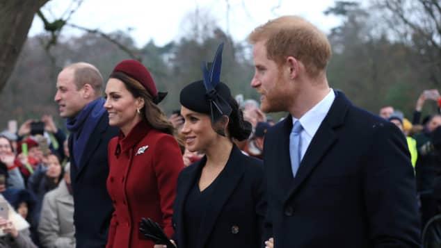 Prinz William und Herzogin Kate mit Herzogin Meghan und Prinz Harry