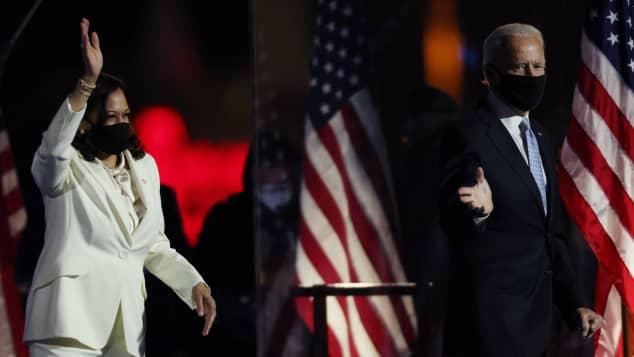 Joe Biden und Kamala Harris haben die Wahl gewonnen präsident usa