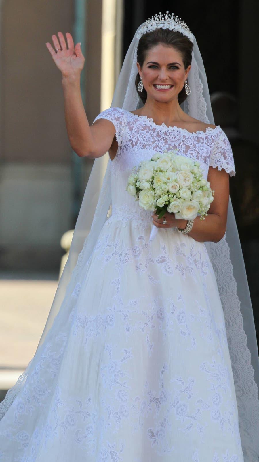 So schön war Prinzessin Madeleine bei ihrer Hochzeit