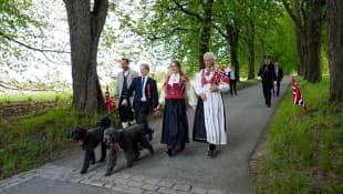 Prinzessin Mette-Marit, Prinz Haakon, Prinzessin Ingrid Alexandra und Prinz Sverre Magnus