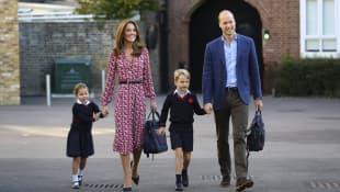 Prinzessin Charlotte, Herzogin Kate, Prinz William, Prinz George