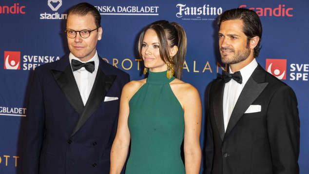 Prinz Daniel und Prinzessin Sofia und Prinz Carl Philip
