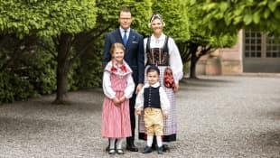 Kronprinzessin Victoria und ihre Familie am Nationalfeiertag
