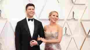 Scarlett Johansson und Colin Jost auf dem roten Teppich der 92. Oscar-Verleihung am 9. Februar 2020