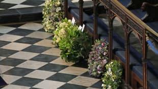 Kränze bei Prinz Philips Beerdigung