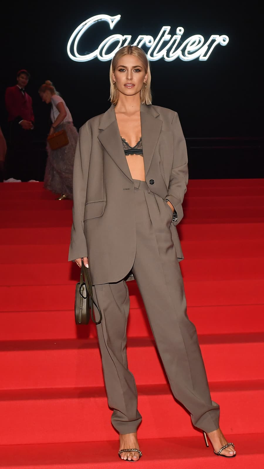 Lena Gercke Heisser Red Carpet Look Ohne Oberteil