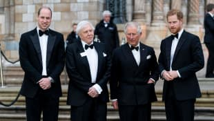 Prinz William, Sir David Attenborough, Prinz Charles, Prinz Harry