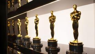 Die Oscar Trophäen hinter der Bühne bei den Oscars am 9. Februar 2020