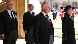 Prinz Charles, Prinzessin Anne, Prinz Andrew, Prinz Edward