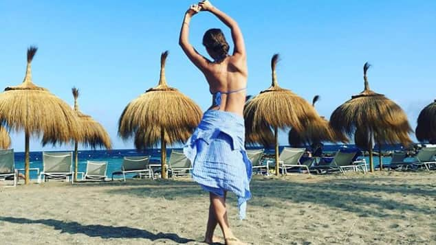 Victoria Swarovski macht im Urlaub eine gute Figur