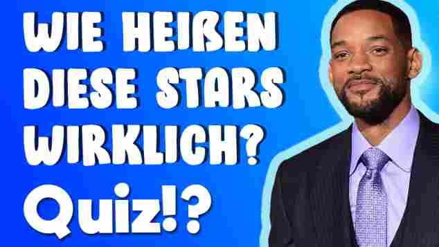 Wie heißen diese Stars wirklich Quiz