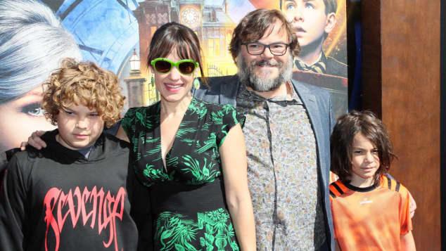 Jack Black mit seiner Familie