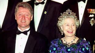 Bill Clinton und Königin Elisabeth II.