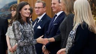 königin letizia von spanien; königin letizia von spanien in madrid; königin letizia von spanien am zarzuela palace;