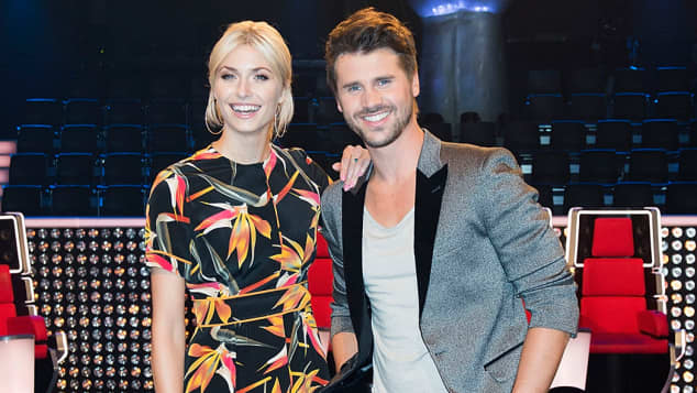"Lena Gercke und Thore Schölermann bei ""The Voice of Germany"""