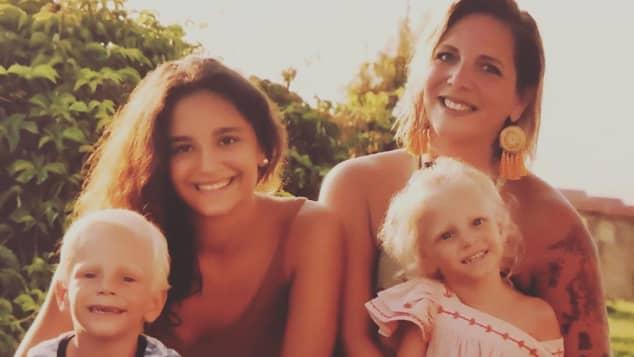 Daniela Büchner und ihre Kinder