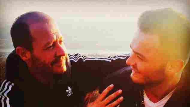 Stefano mit seinem Papa Willi Herren auf Instagram