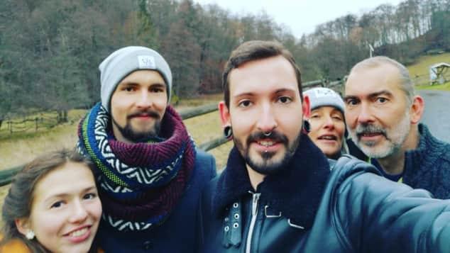 Fabian Kahl mit Familie
