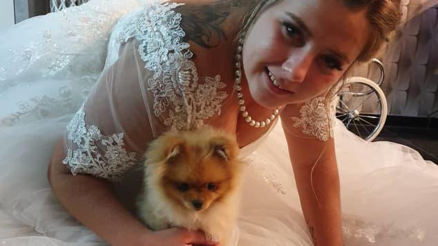 Sarafina Wollny zeigt sich als wunderschöne Braut im Hochzeitskleid