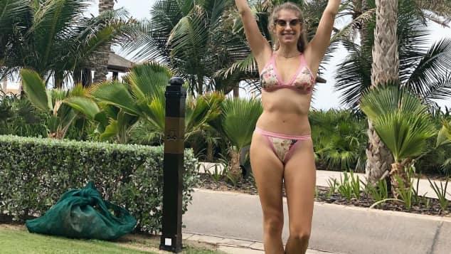 Cathy Hummels im Urlaub in Dubai im Bikini