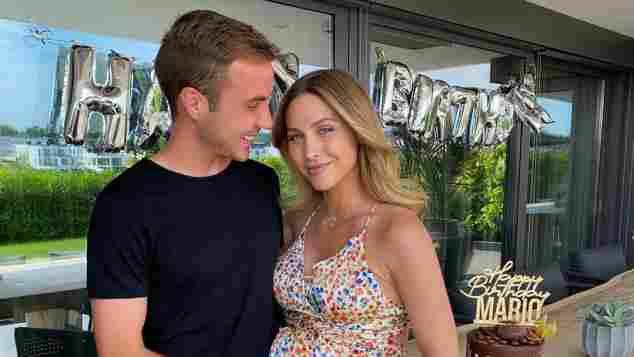 Ann-Kathrin feiert hochschwanger mit Mario Götze seinen Geburtstag.