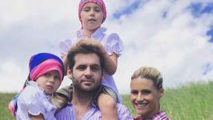 Michelle Hunziker mit Familie
