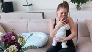 Bibi Heinicke und ihr Baby