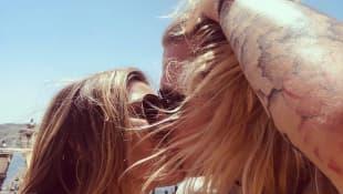 Sophia Thomalla und Loris Karius knutschen auf Instagram
