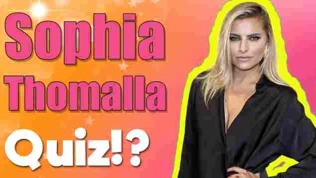 sophia thomalla quiz