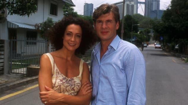 Barbara Wussow und Daniel Morgenroth jung