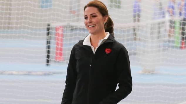 Schwangere Herzogin Kate in sportlicher Montur