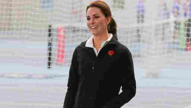 Herzogin Kate in sportlicher Montur