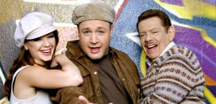 """Leah Remini, Kevin James und Jerry Stiller in """"King of Queens"""""""