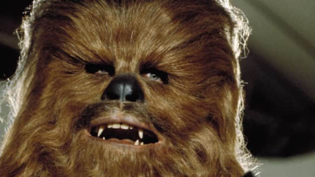 """""""Chewbacca"""" - der treue und ständige Begleiter von """"Han Solo"""" in den """"Star Wars""""-Filmen"""
