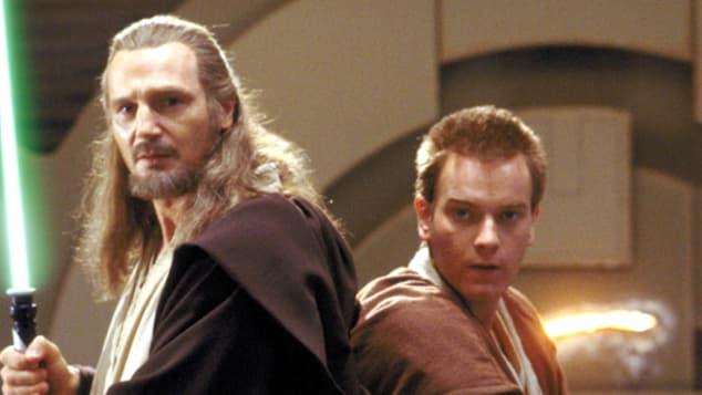 """Liam Neeson als """"Qui-Gon Jinn"""" und Ewan McGregor als """"Obi Wan Kenobi"""" in """"Star Wars"""""""