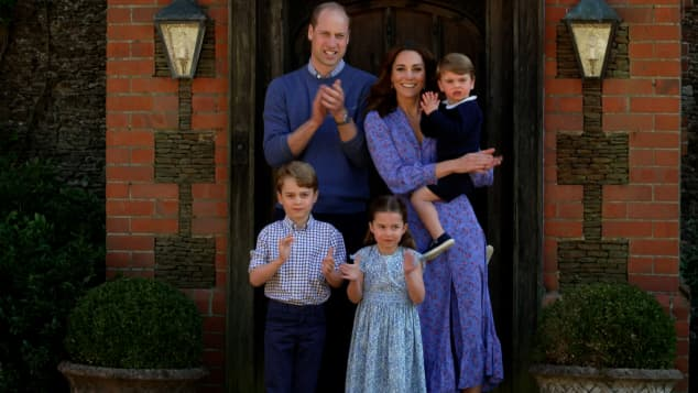 Prinz William, Herzogin Kate, Prinz George, Prinzessin Charlotte und Prinz Louis