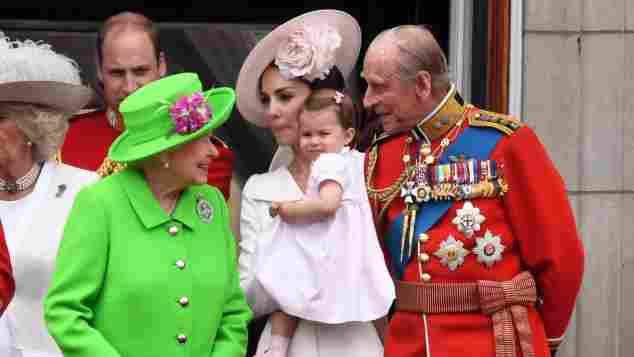 Die britischen Royals auf dem Balkon des Buckingham Palasts im Juni 2016