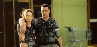 """Angelina Jolie und Brad Pitt in der Komödie """"Mr. & Mrs. Smith"""""""